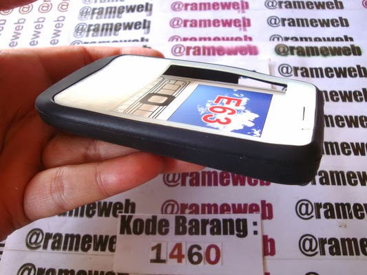 ... Silikon Soft Case Keypad Glow In The Dark Nokia E63 Hitam ( Black