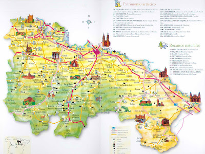 La Rioja Tourism Map Area