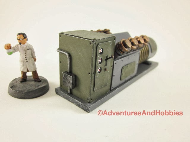 Mad science laboratory power generator - side view 4