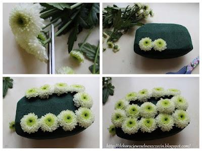 poduszka pod obrączki z kwiatów krok 2