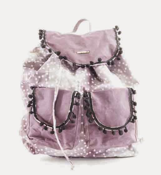 mochila rosa bissú