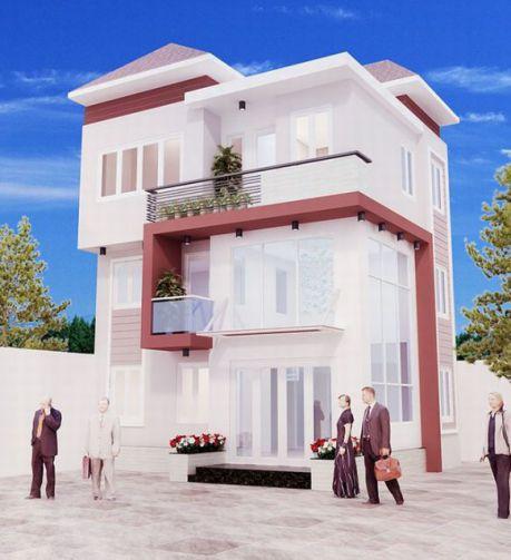 Những mẫu kiến trúc nhà phố 1 trệt 1 lửng 1 lầu đẹp