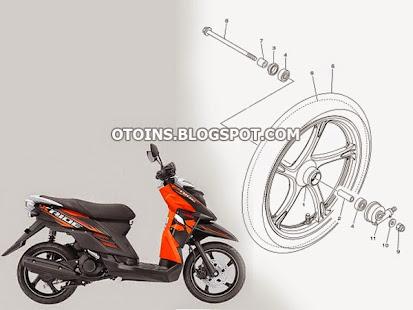 Daftar Harga Sparepart Yamaha X Ride Terbaru 2015