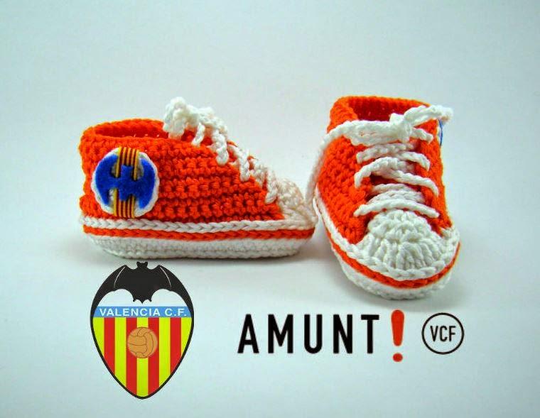Varetas & Jaretas: Converse del Valencia a crochet
