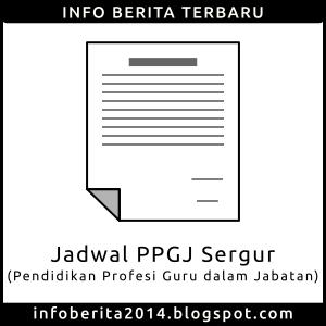 Jadwal PPGJ Sergur 2015