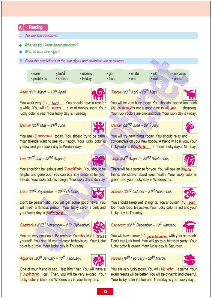 Ingilizce Ders Kitabı Cevapları 7 Sınıf Bilgetürk Gribilge