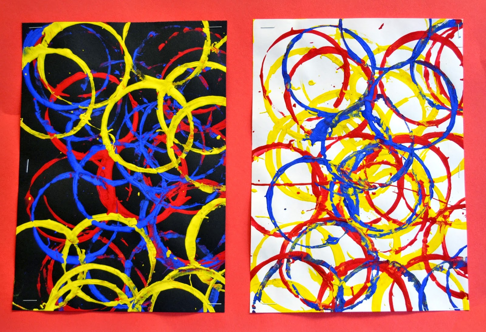 kindergarten primary color cup prints lessons from the k 12 art room