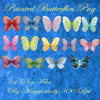 Painted Butterflies PNG tubes