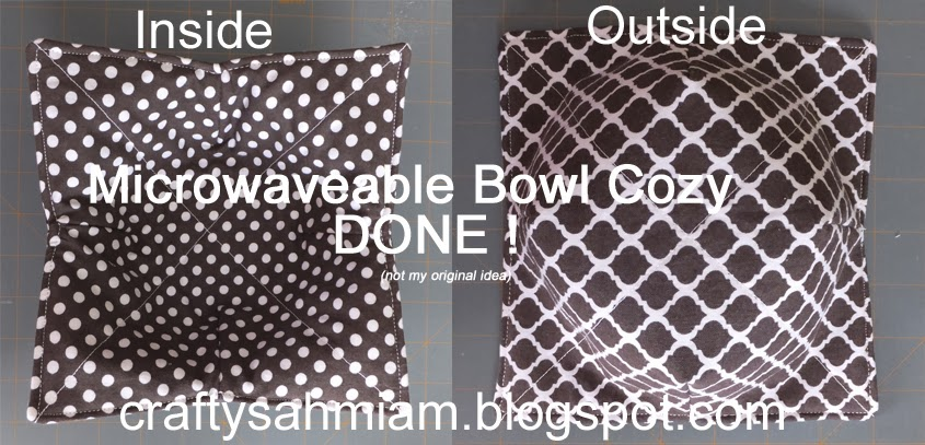Crafty Sahm I Am Microwaveable Bowl Potholder Bowl Cozy