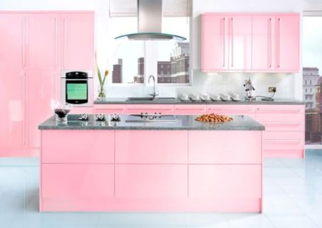 Cabinets for Kitchen: Cool Pink Kitchen Cabinets