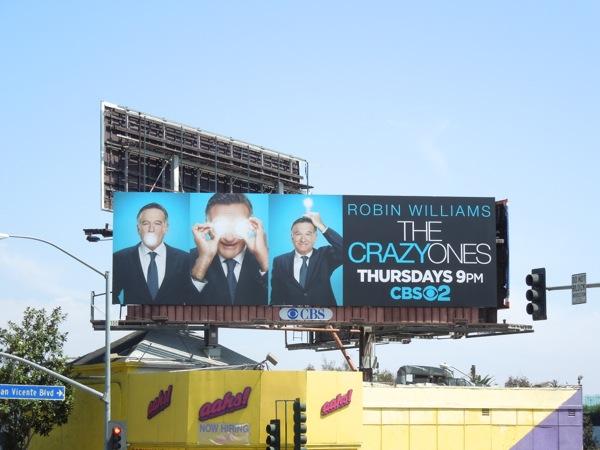 Crazy Ones TV billboard