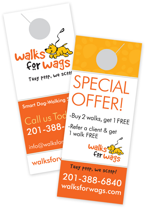 Door Hangers For Dog Walkers How To Use It As A Marketing Tool