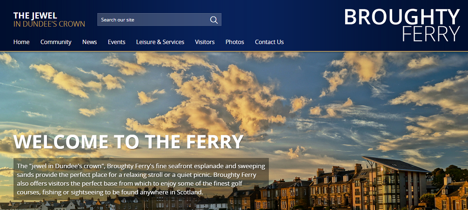 Come to Broughty Ferry Website New Homepage March 2015