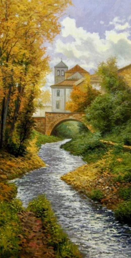 Cuadros pinturas oleos paisajes for Cuadros bonitos y modernos