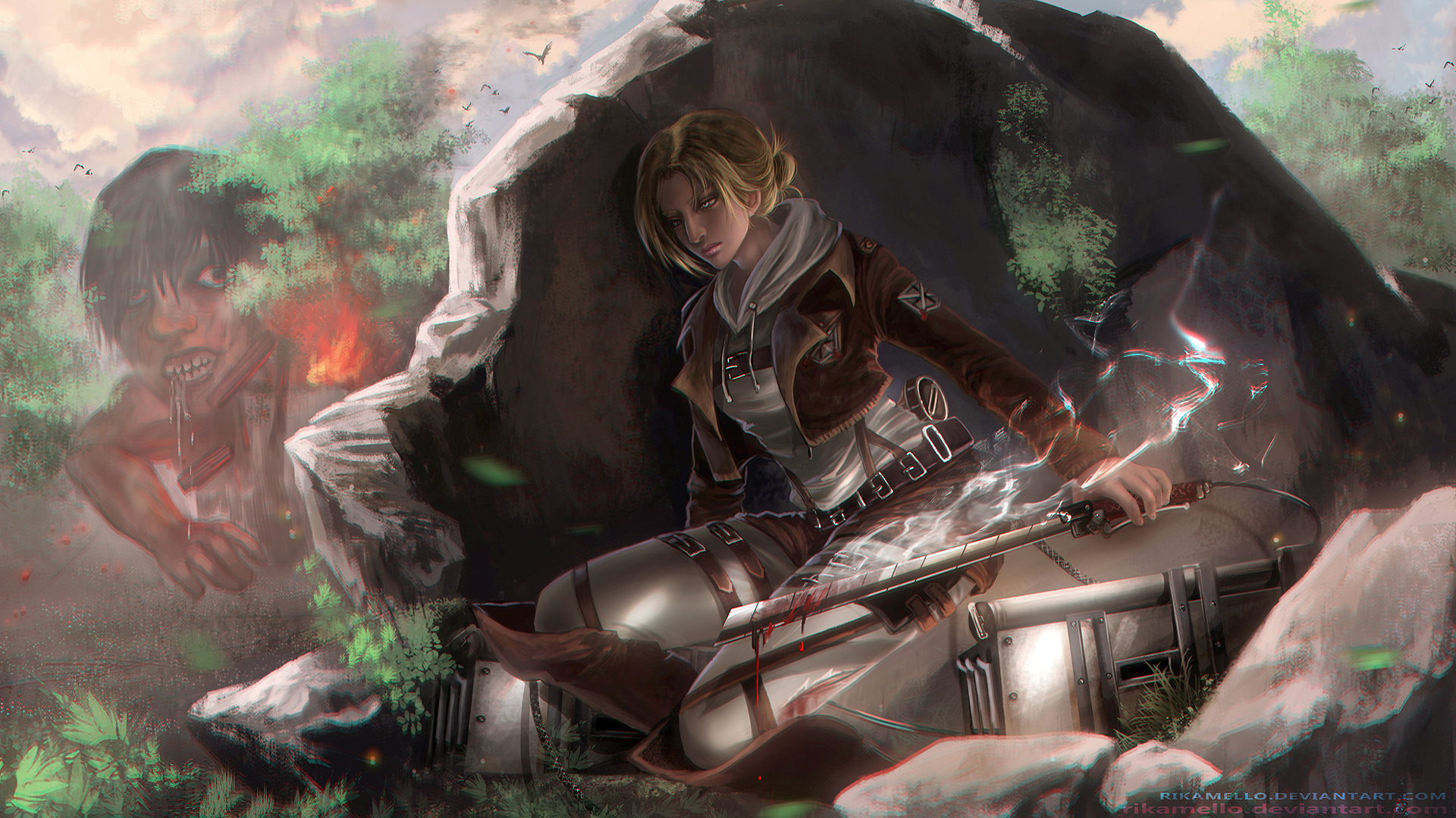 Anime girl Annie Leonhart / Leonhardt Attack on Titan Shingeki no ...