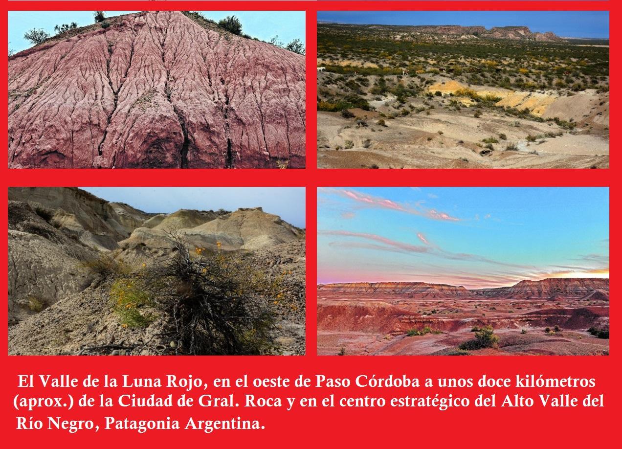Paisajes de la Patagonia Argentina. Valle de la Luna Roja.