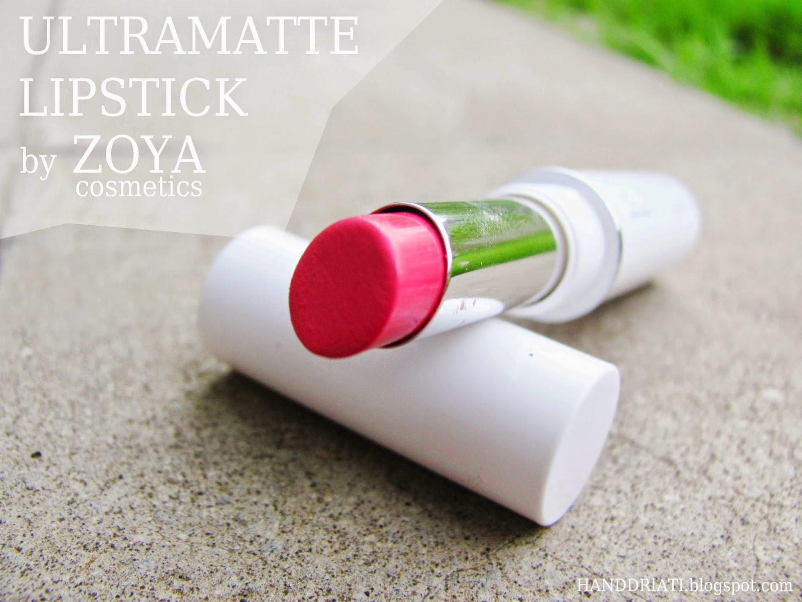 Ultramatte Lipstick by Zoya Cosmetics (Rosette)
