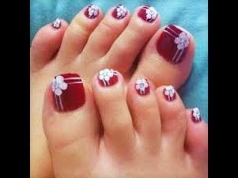 Diseño y decoración de uñas,unhas,nails para tus pies 2016