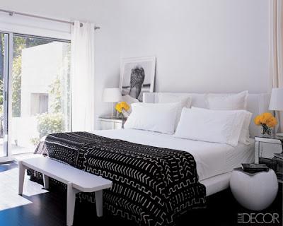 foto habitación blanco y negro