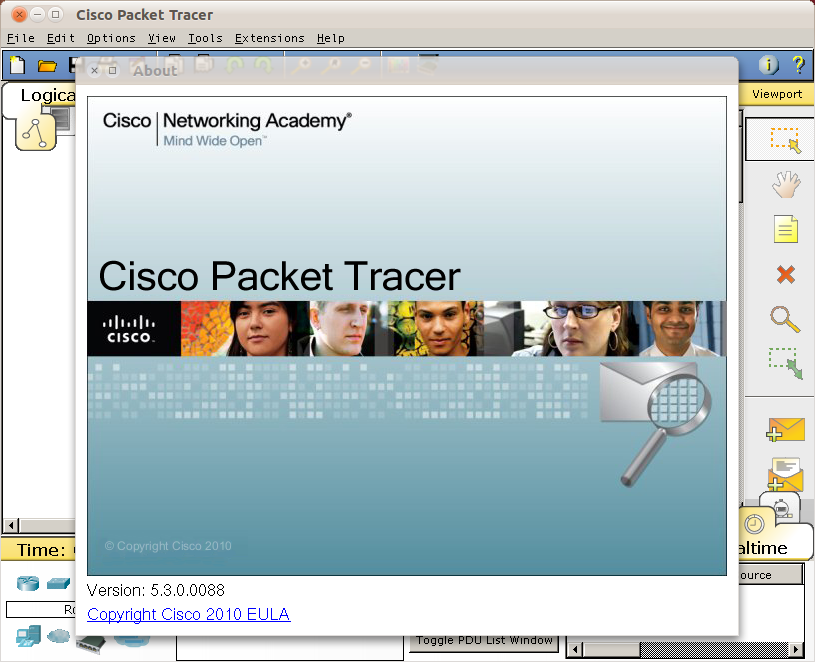Cisco Packet Tracer di Ubuntu 10.10 Maverick Meerkat