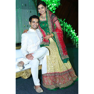 wedding reception images of samvrutha sunil