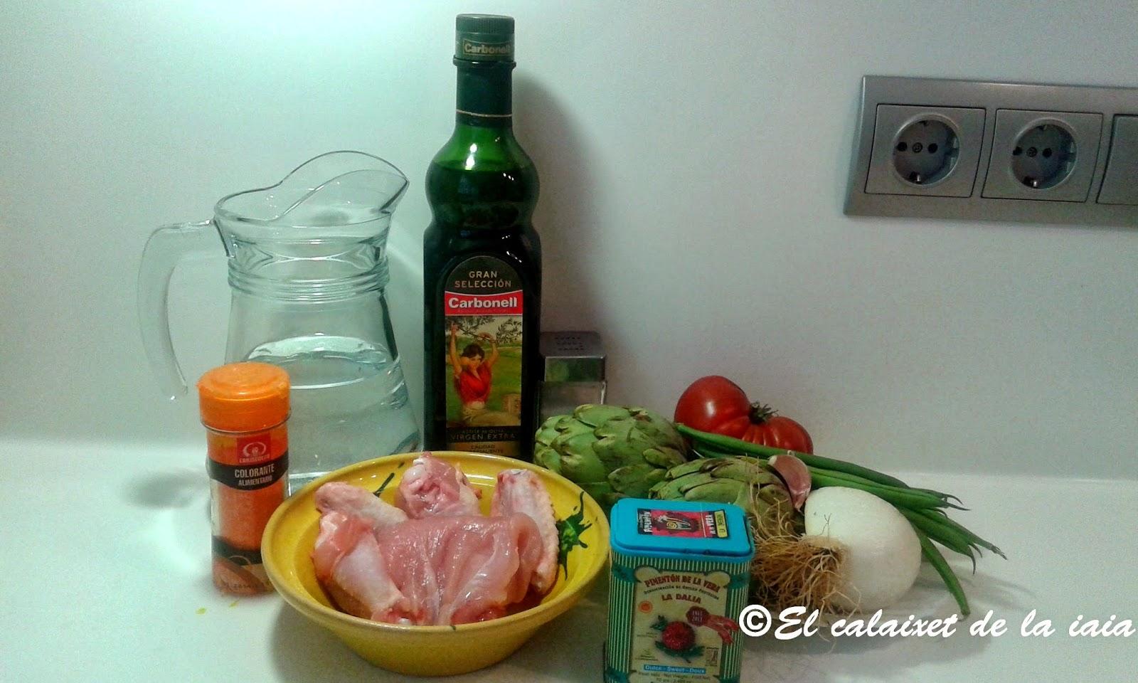Arroz caldoso con pollo y alcachofas paso a paso foto a - Arroz caldoso con costillas y alcachofas ...