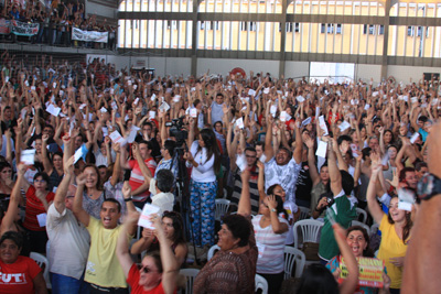 Assembléia geral define pela continuidade da greve