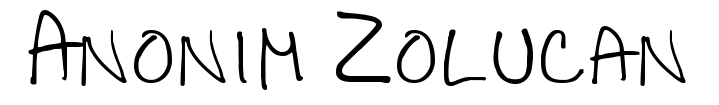 Anonim Zolucan