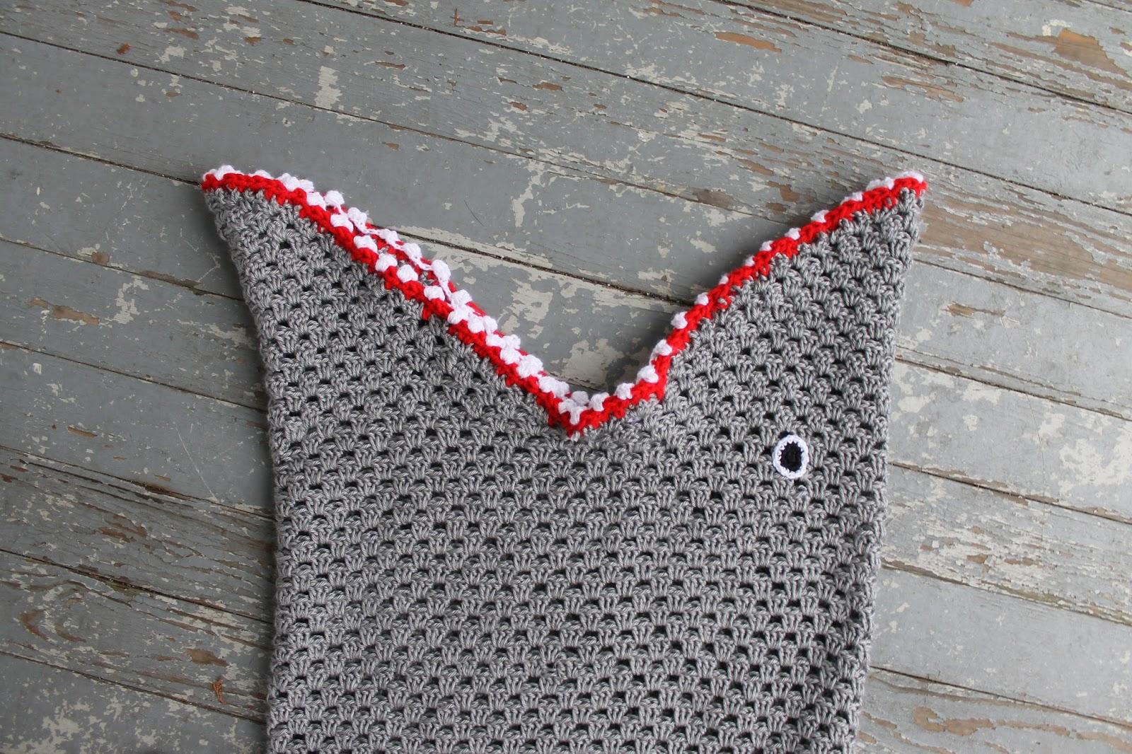 The Feisty Redhead Carsons Crochet Shark Blanket
