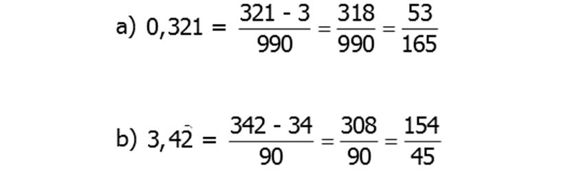 Generatriz de un número decimal periódico mixto