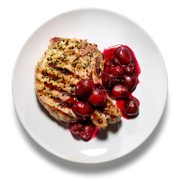The Recipe File: Grilled Pork Chops With Cherry Sauce