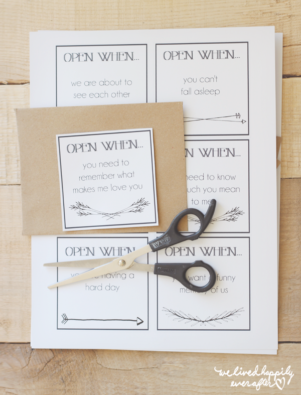 We Lived Happily Ever After: Printable u0026quot;Open Whenu0026quot; Envelope Labels for ...