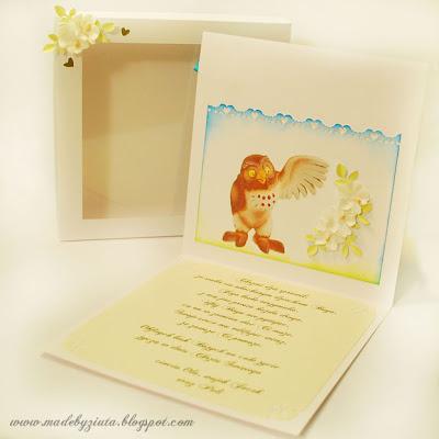 kartki okolicznościowe barbara wójcik kartka na chrzest chłopczyka