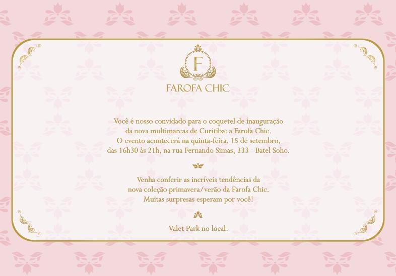 Farofa Chic é o nome da mais nova multimarcas de roupas femininas que será  inaugurada no dia 15 de setembro com um coquetel especial para convidados. b9d8cfc7bca