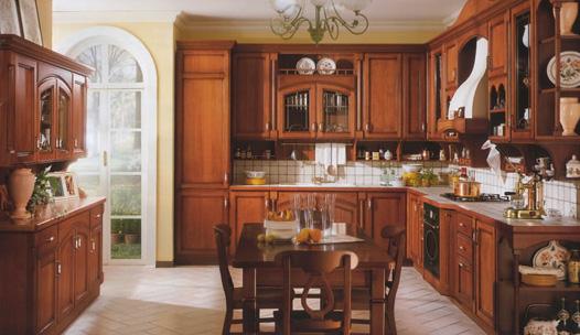 Fotos y dise os de cocinas en madera ideas para decorar - Cocinas clasicas elegantes ...