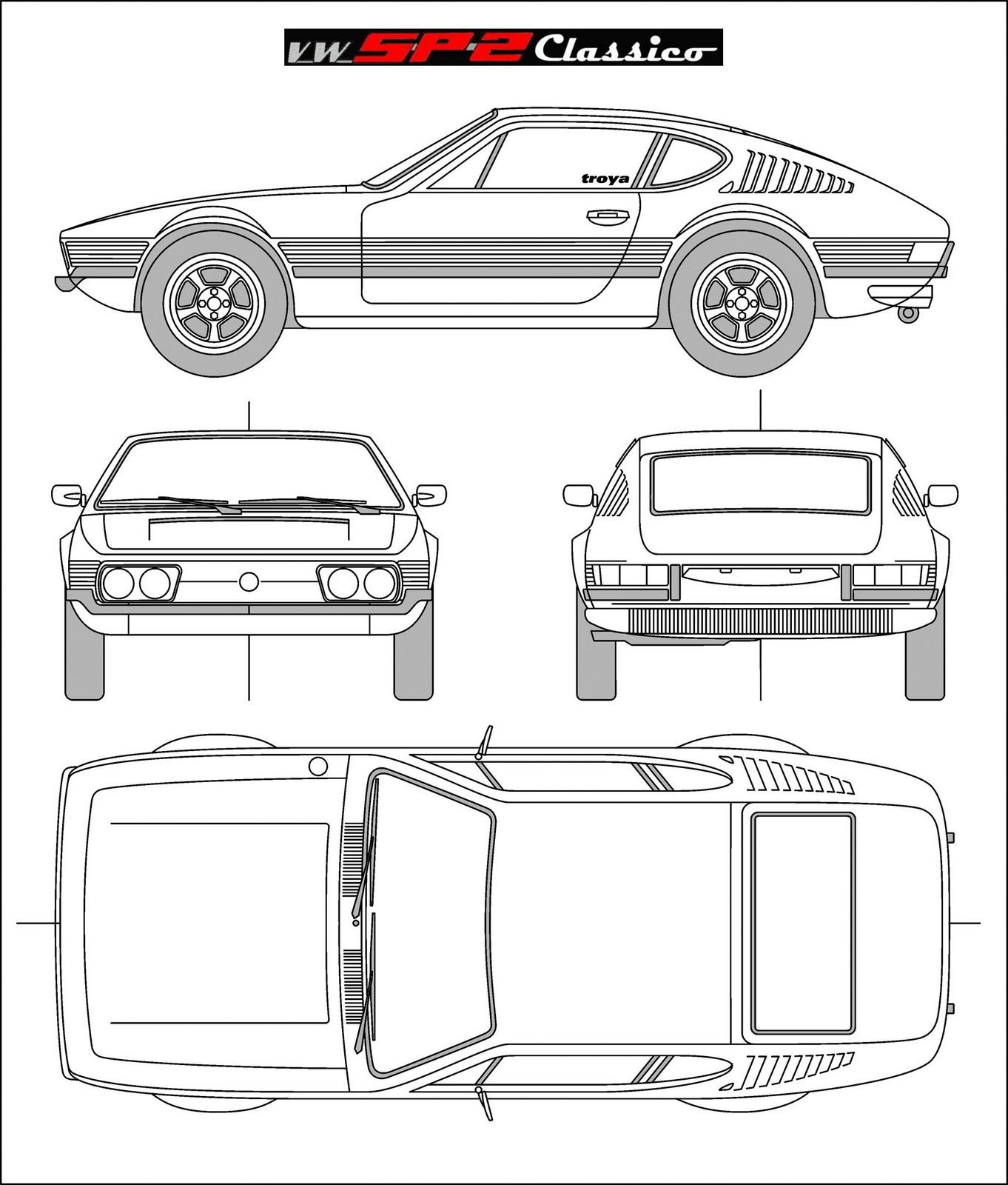 Blueprint do volkswagen sp2 volkswagen sp2 classico for Costruttore blueprint gratuito