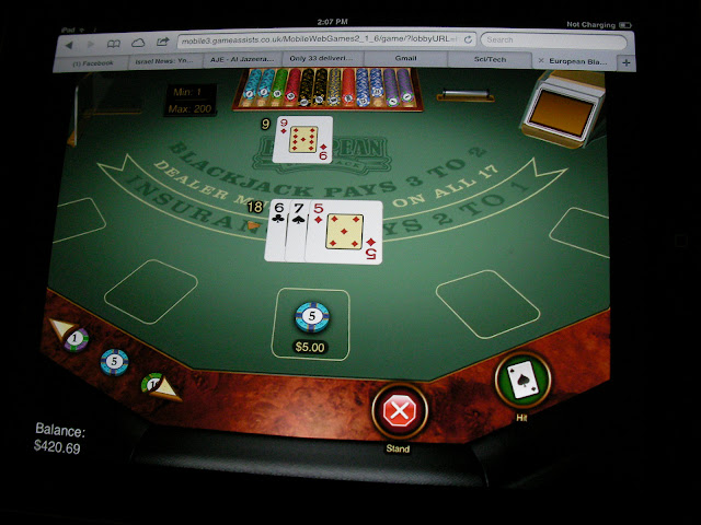 blackjack at the ipad casino