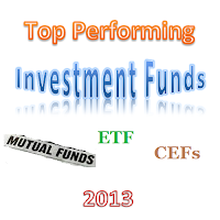 YTD Top Performing Investment Funds 2013 - Mutual Fund, ETF and CEF