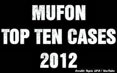 MUFON Top Ten Cases for 2012