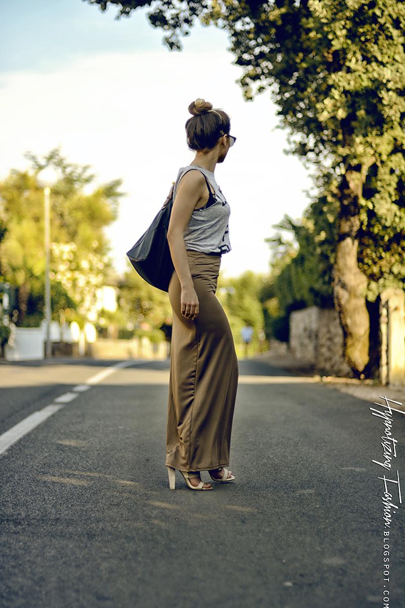 spódnica maxi stylizacja