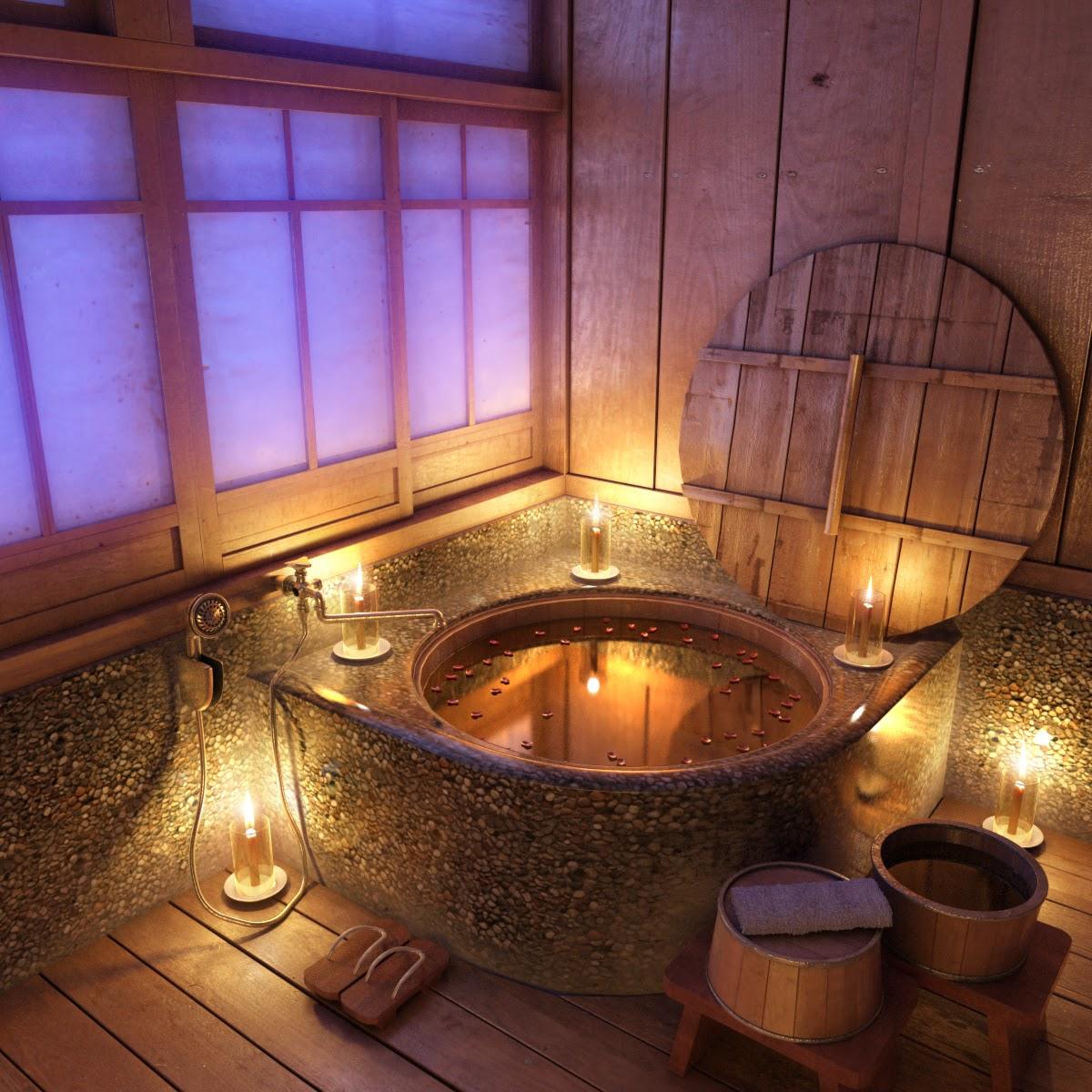 styl rustykalny w łazience