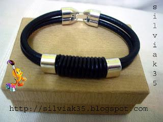 pulsera cuero Pulsre+negra+dos+cordones+copia