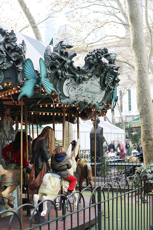 Bryant Park Carousel in NYC