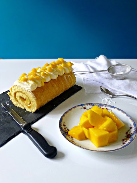 Mango Swiss Roll Cake Recipe