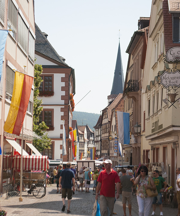 small cute medieval Bavarian town