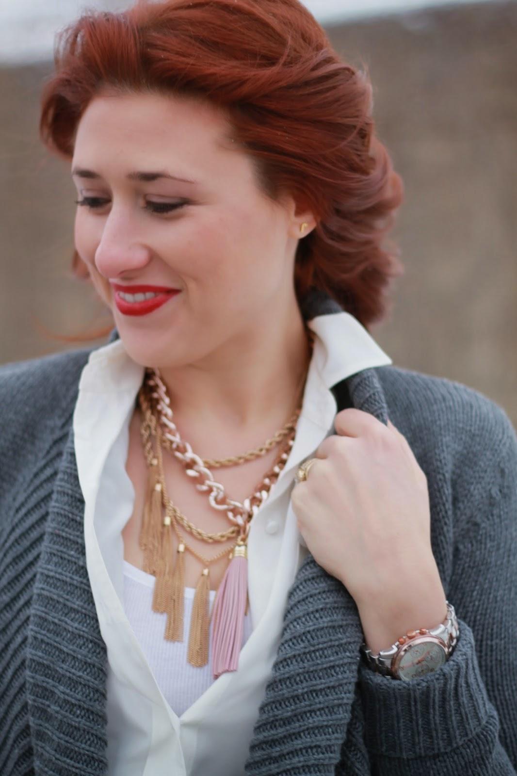 tassel, necklace