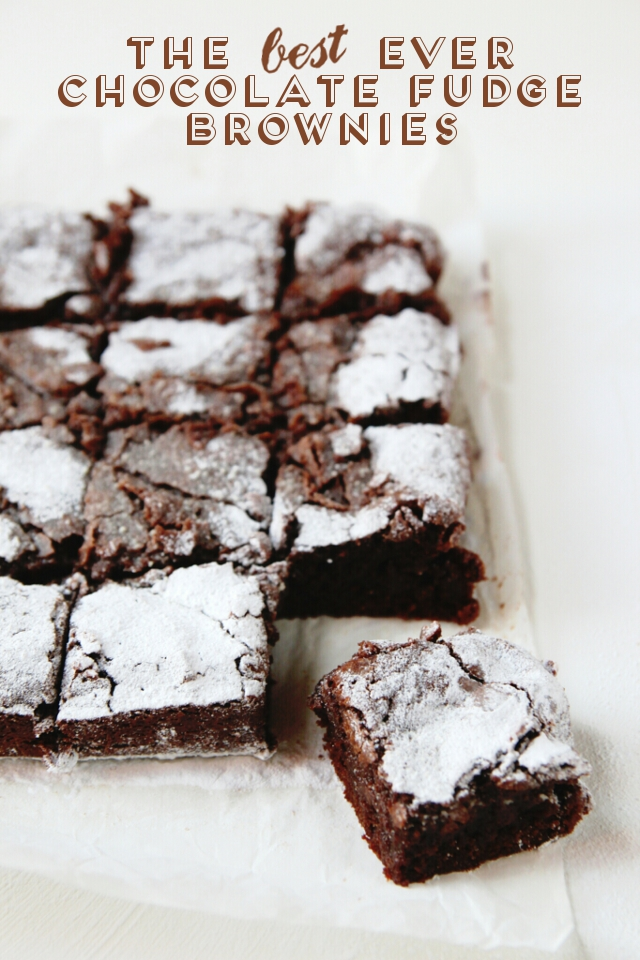 THE BEST EVER CHOCOLATE FUDGE BROWNIES. | Gathering Beauty
