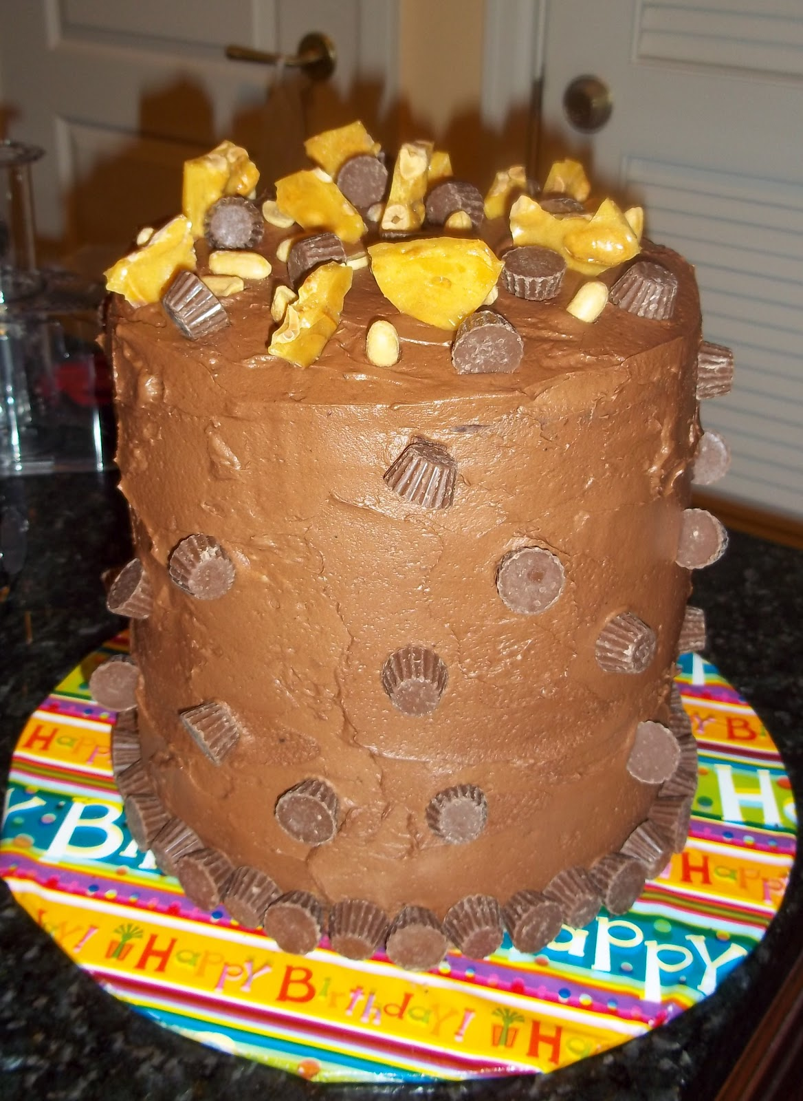 The Freshman Cook Chocolate Peanut Butter Tall Stack Cake