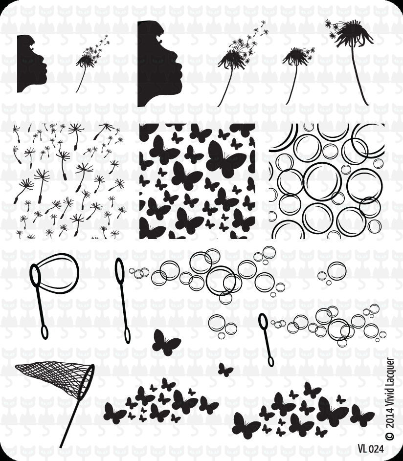 Lacquer Lockdown - Vivid Lacquer, VL024, stamping, nail art, new plates 2014, new nail art plates 2014, new image plates 2014, new stamping plates 2014, VL024, diy nails, nail art, cute nails, cute nail art ideas, easy nail art, pueen 2014