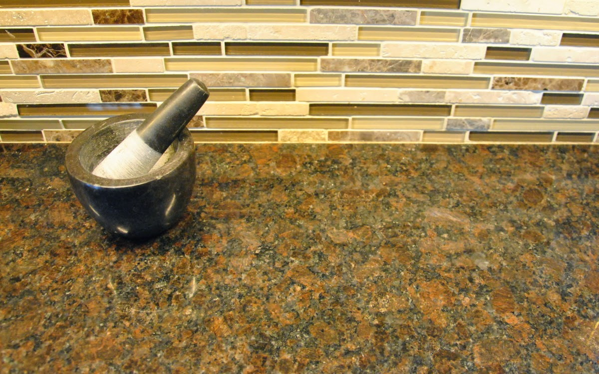 natural Coffee Brown Kitchen Granite Countertops